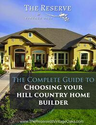 Guide to choosing your home builder texas hill country for Texas hill country home builders