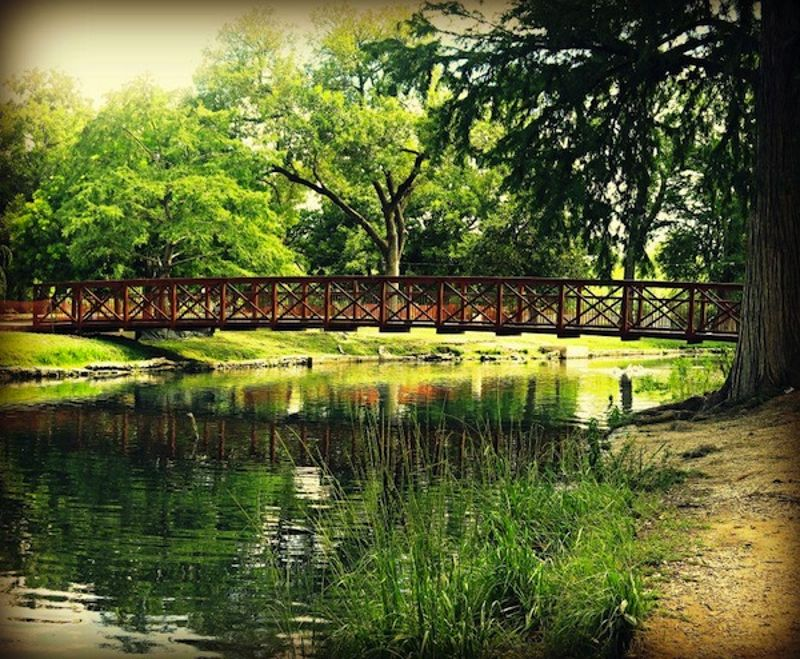 Photo of Landa Park, courtesy of City of New Braunfels