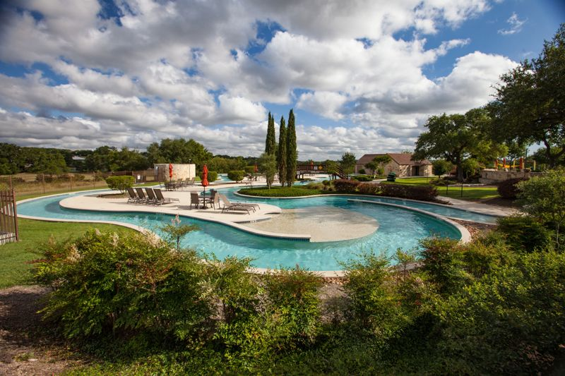 Gorgeous Lazy River in Vintage Oaks. New Braunfels TX fastest growing community.