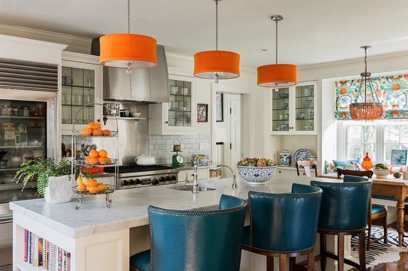 teal-and-orange-kitchen-accents