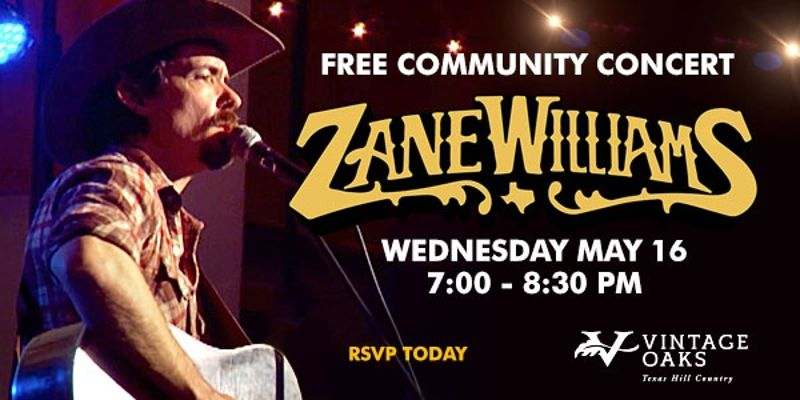 Vintage Oaks Concert Series - Zane Williams, May 16, 2018